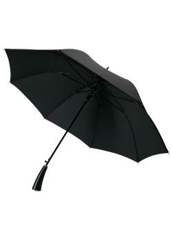 Зонт-трость с фактурной тканью Ricardo, черный