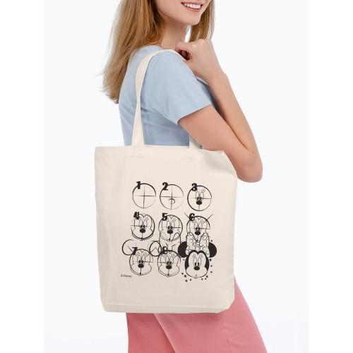 Холщовая сумка «Минни Маус. Icon Sketch», неокрашенная