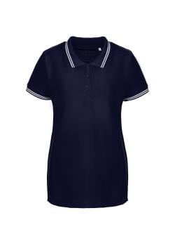 Рубашка поло женская Virma Stripes Lady, темно-синяя