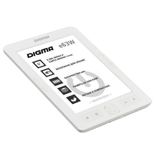 Электронная книга Digma E63W, белая