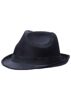 Шляпа Gentleman, черная с черной лентой