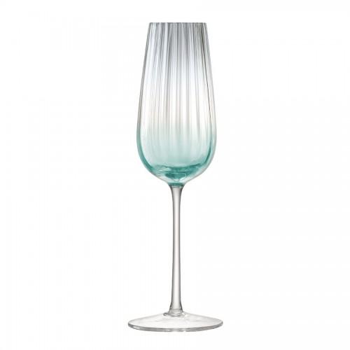 Набор бокалов для шампанского Dusk, зеленый с серым