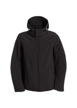 Куртка мужская Hooded Softshell черная
