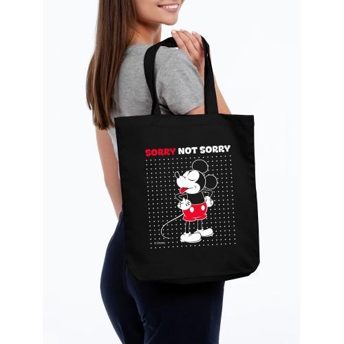 Холщовая сумка «Микки Маус. Sorry», черная