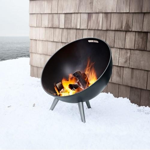 Очаг Fire Globe, черный