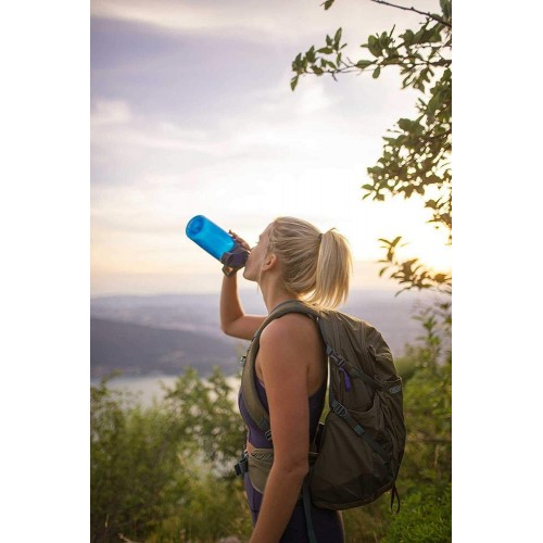 Спортивная бутылка Chute 1000, фиолетовая