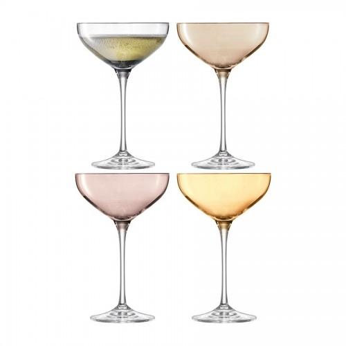 Набор бокалов для шампанского Polka Saucer, металлик