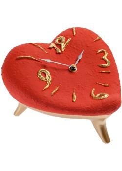 Часы «Сердце», красно-золотые