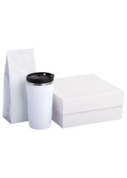 Набор Grain: термостакан и кофе, белый