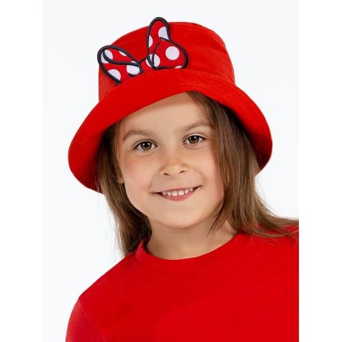 Панама детская «Бант Минни Маус», красная