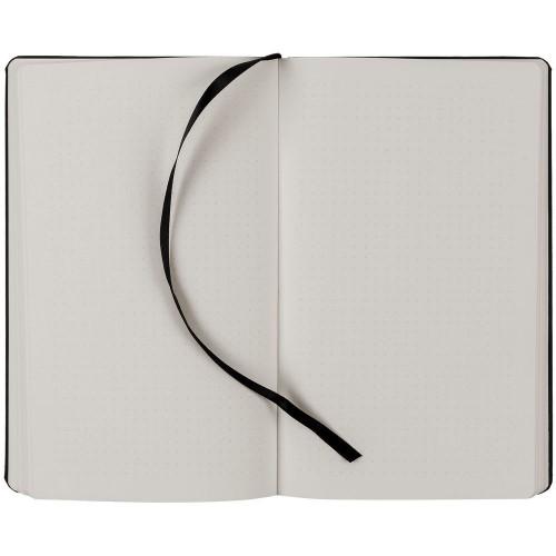 Блокнот Magnet Chrome с ручкой, черно-серый