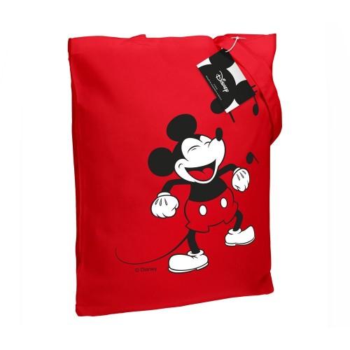 Холщовая сумка «Микки Маус. Sing With Me», красная