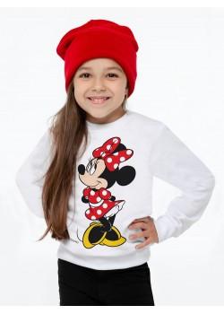 Свитшот детский «Минни Маус. Jolly Girl», белый