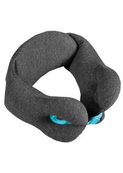 Дорожная подушка Norwick, серая с голубым