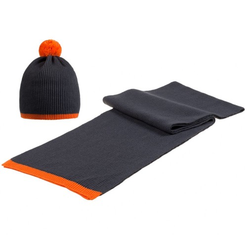 Набор Amuse, темно-серый с оранжевым