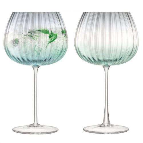 Набор бокалов Dusk, зеленый с серым
