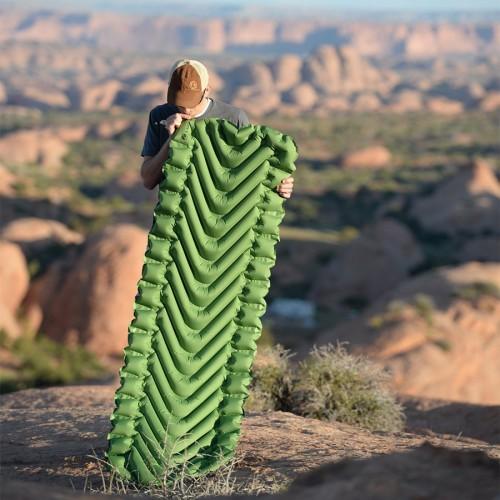 Надувной коврик Static V, зеленый