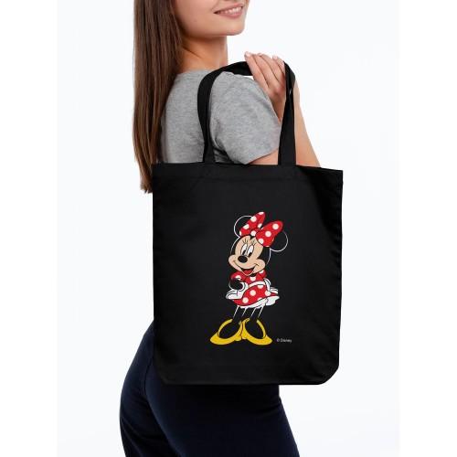 Холщовая сумка «Минни Маус. Couture», черная