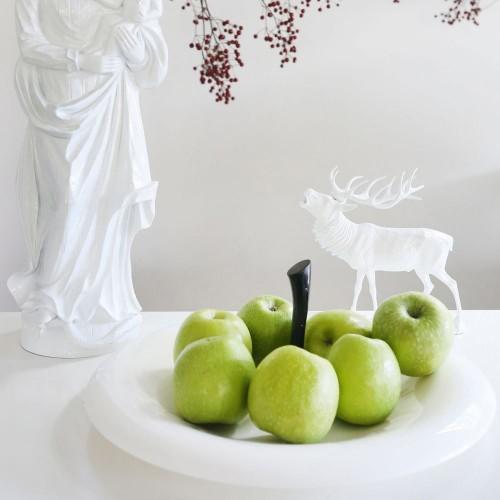 Блюдо для фруктов Big Apple, белое с черным