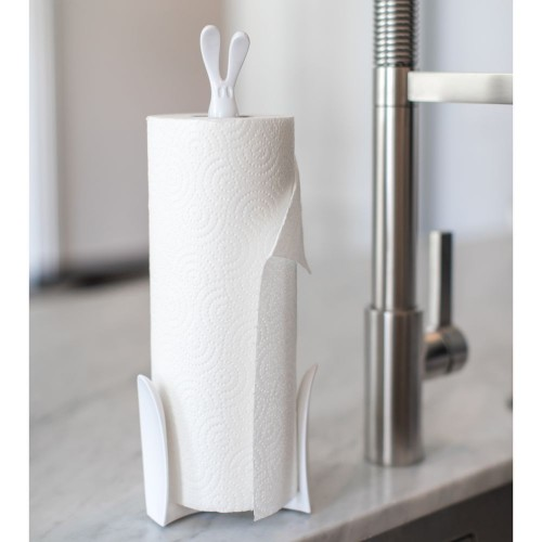 Держатель для бумажных полотенец «Кролик Роджер», белый