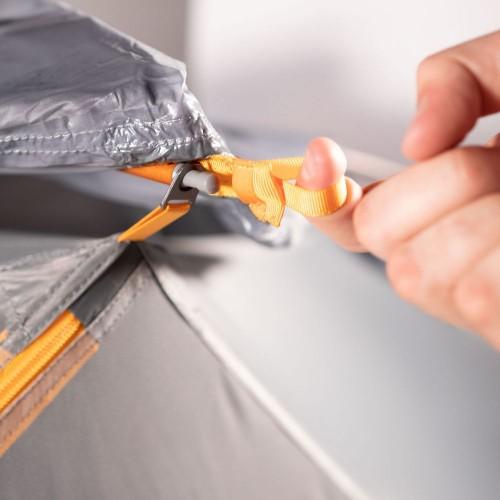 Палатка трекинговая Maxfield 4, серая с оранжевым