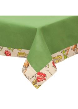 Скатерть «Овощное рагу», зеленая