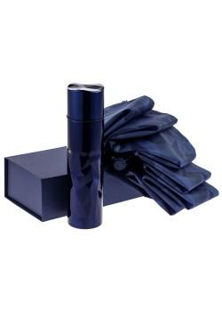 Набор Gems: зонт и термос, синий