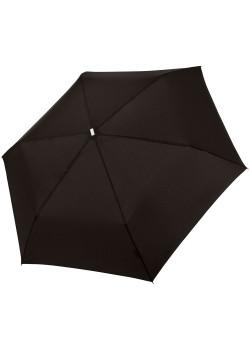 Зонт складной Fiber Alu Flach, черный