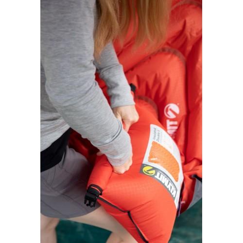 Надувной коврик Insulated Double V, оранжевый