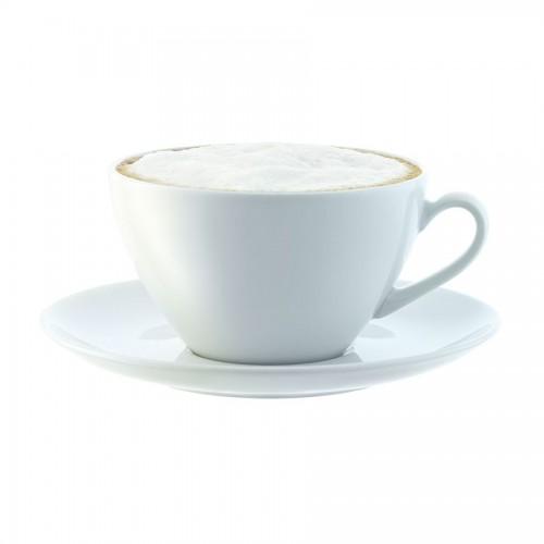 Набор больших чашек с блюдцем Dine, белый