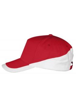 Бейсболка BOOSTER, красная с белым