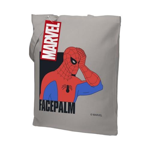 Холщовая сумка Facepalm, серая