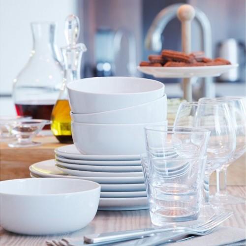 Набор из 12 тарелок Dine, белый