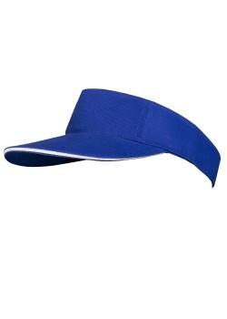 Козырек Unit Active, ярко-синий с белым кантом