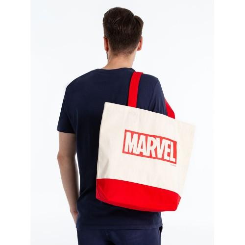 Холщовая сумка Marvel, красная