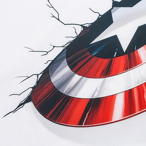 Дождевик «Щит Капитана Америки», белый