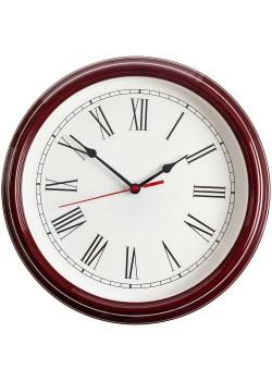 Часы настенные Flat Circle, бордовые