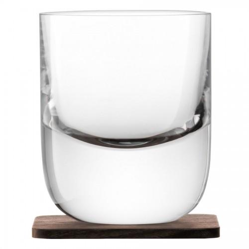 Набор стаканов Renfrew Whisky с деревянными подставками