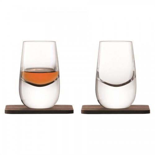 Набор стопок Whisky с деревянными подставками