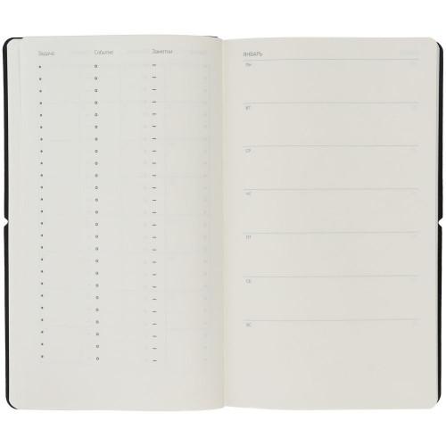 Ежедневник Nubuk, недатированный, черный