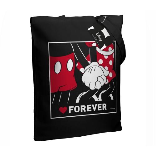 Холщовая сумка «Микки и Минни. Love Forever», черная