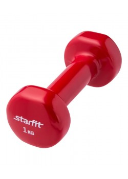Гантель Heracles 1 кг, красная