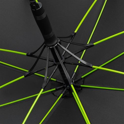 Зонт-трость с цветными спицами Color Style ver.2, зеленое яблоко, с серой ручкой