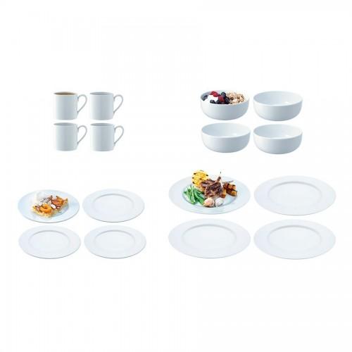 Набор Dine из 16 предметов, белый
