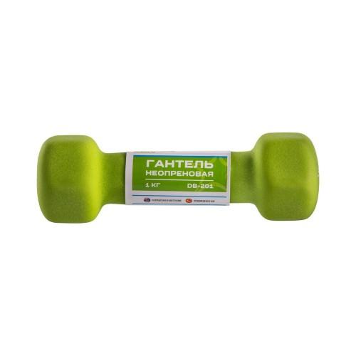 Гантель Atlas 1 кг, зеленая (салатовая)
