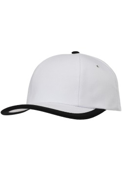 Бейсболка Bizbolka Honor, белая с черным кантом