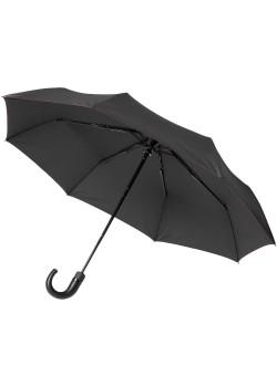 Зонт складной Lui, черный с красным
