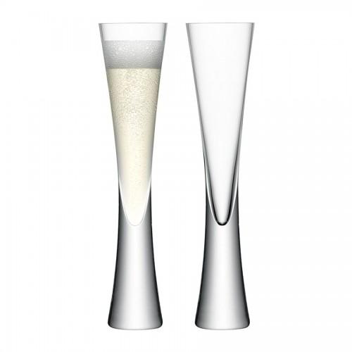 Набор бокалов для шампанского Moya Flute, прозрачный