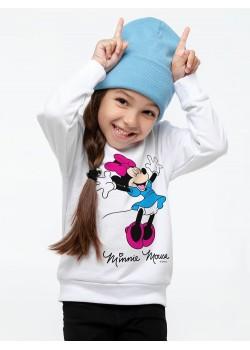 Свитшот детский «Минни Маус. So Happy!», белый