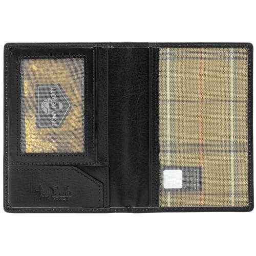 Обложка для паспорта и автодокументов Italico, черная